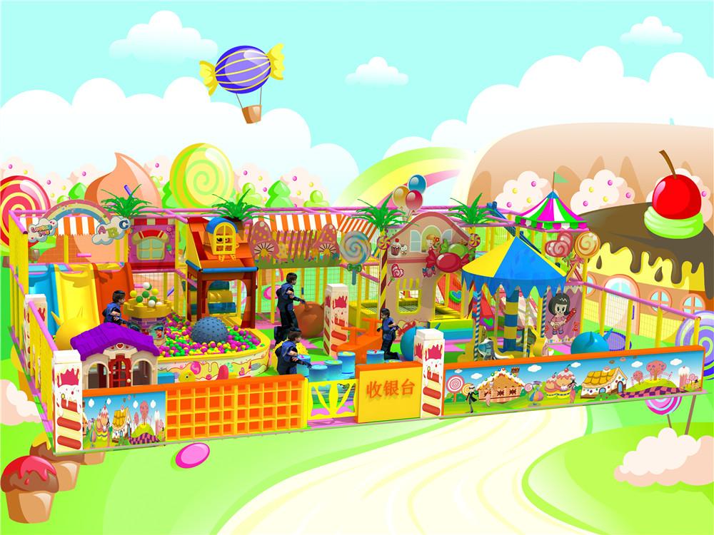 重现孩子们心目中梦幻的糖果世界.